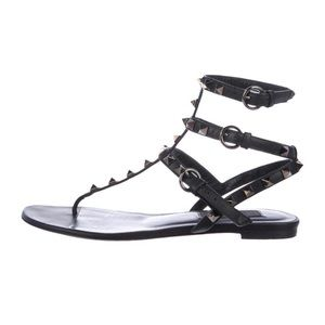 Valentino leather Rockstud sandal